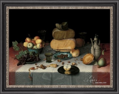 Still-Life with Fruit, Nuts, and Cheese, after Floris van Dyck