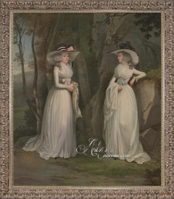 Eleanor and Margaret Ross, after Alexander Nasmyth