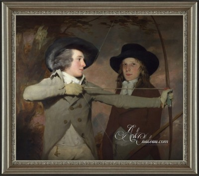Empire Period Painting, Titled The Archers, after Sir Henry Raeburn