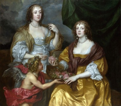 Lady Elizabeth Thimbelby and Sister, The Viscountess of Andover, c.1637, Oil on Canvas