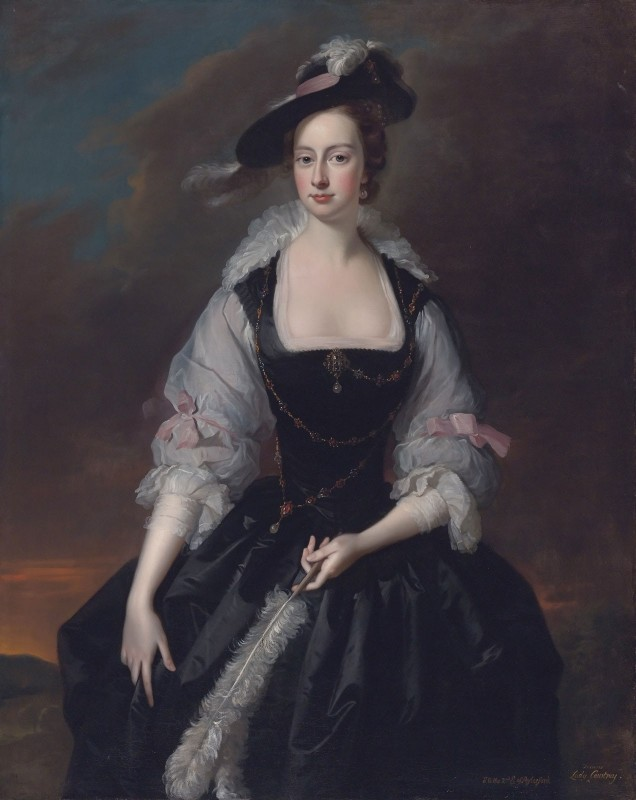 Frances Courtenay, Wife of William Courtenay, 1st Viscount Courtenay, c.1750, Oil on Canvas