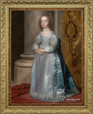 Princess Mary, Daughter of Charles I, after Anthony van Dyck