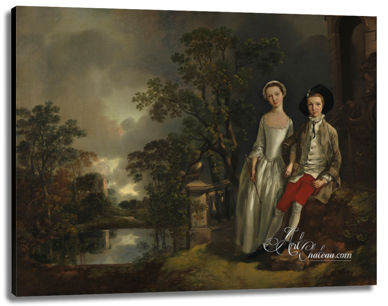 Heneage Lloyd and his sister Lucy, after Thomas Gainsborough