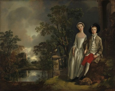 Heneage Lloyd and his sister Lucy, c.1775, Oil on Canvas