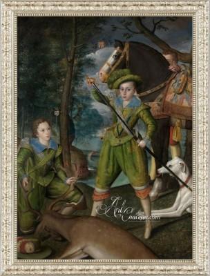 Elizabethan Style Painting, after Robert Peake