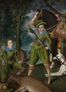 Henry Frederick Prince of Wales, with Sir John Harington, c.1595, Oil on Canvas