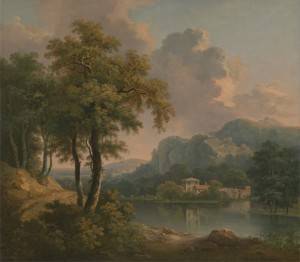 Wooded Hilly Landscape, c.1785, Oil on Canvas