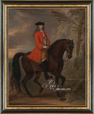 NobleMan on Horseback, after Baroque artist John Wootton