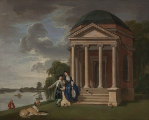 David Garrick and his wife by his Temple to Shakespeare, c.1762, Oil on Canvas