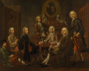 Portrait of a Group of Gentlemen, with the Artist, c.1745, Oil on Canvas