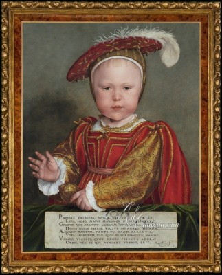 British Heritage painting of Edward VI as a Child