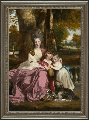 English Interior Design painting, Lady Elizabeth Delme, and Her Children