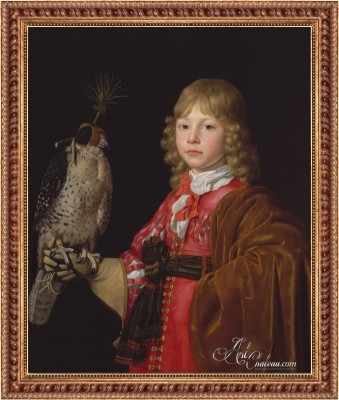 Portrait of a Boy with a Falcon, after Wallerant Vaillant