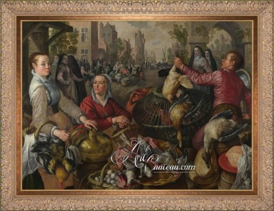 Poultry Market, after painting by Joachim Beuckelaer