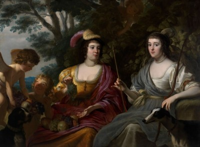 Charlotte Stanley (Left) and Amalia van Solms as Ceres and Diana, c.1633, Oil on Canvas