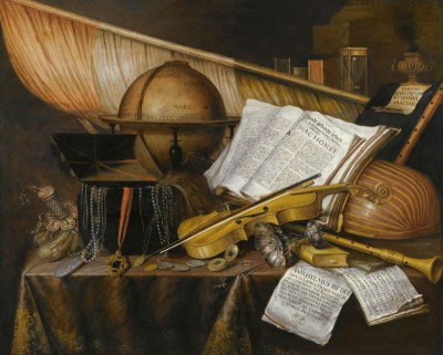 A Vanitas Still-Life with Books and Globe, c.1695, Oil on Panel