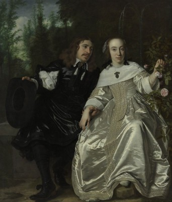 Portrait of Abraham del Court and his wife Maria de Kaersgieter, c.1654, Oil on Canvas