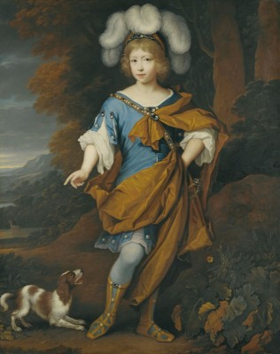 Portrait of a Young Boy in Festive Costume, c.1696, Oil on Canvas