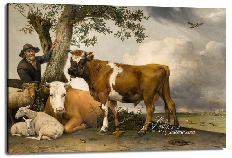 Dutch Farmer with his Livestock, after Paulus Potter