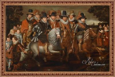 Kavalkade der Prinzen von Nassau, after Adriaen van de Venne