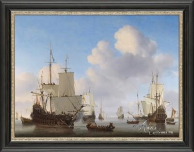 Dutch Men-o'-War in a Calm, after Willem van de Velde