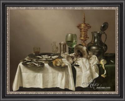 Still-life of a Feast, after Willem Claesz
