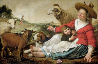 Shepherdess with a Child, c.1627, Oil on Canvas