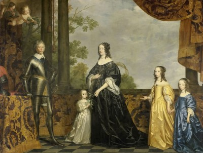 Frederick Henry, his Consort Amalia of Solms, and their Three Youngest Daughters, c.1647, Oil on Canvas
