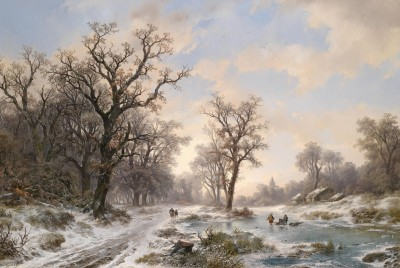 Frozen Morning Near Amsterdam, c.1853, Oil on Canvas