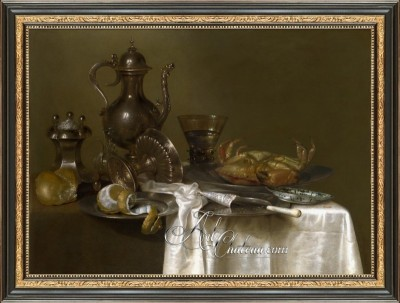 Still Life with Gilt Cup, after Willem Claesz