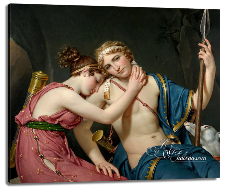 Farewell of Telemachus and Eucharis, after Jacques Louis David
