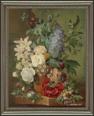 Flowers in a Terracotta Vase, after Albertus Jonas Brandt