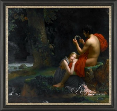 Daphnis and Chloe, after artist Francois Gerard Baron