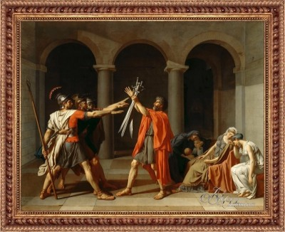 The Oath of the Horatii, after Jacques Louis David