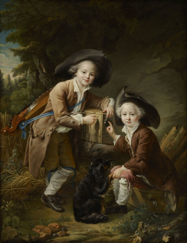 The Comte and Chevalier de Choiseul as Savoyards, c.1759, Oil on Canvas