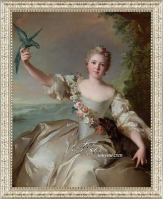 Renee de Carbonnel, after Painting by Jean-Marc Nattier