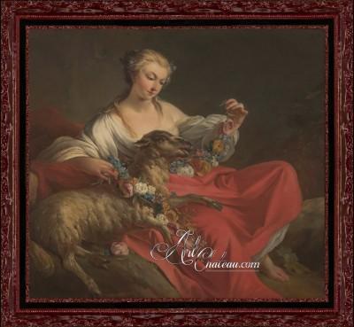The Favorite Lamb, after Jean Baptiste Pierre