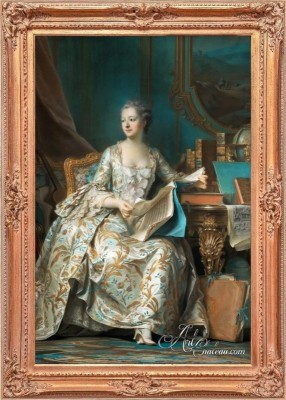 Madame de Pompadour, after Maurice Quentin de La Tour