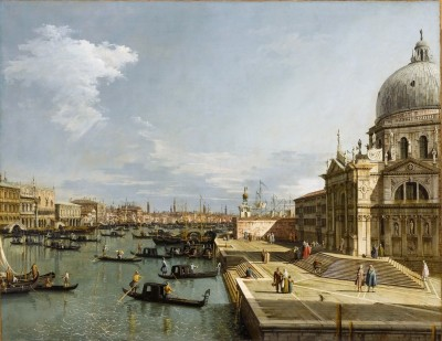 Entrance to the Grand Canal with Santa Maria della Salute, c.1750, Oil on Canvas