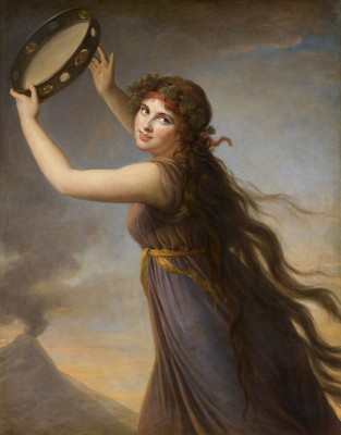 Portrait of Emma, Lady Hamilton as a Bacchante, c.1790, Oil on Canvas