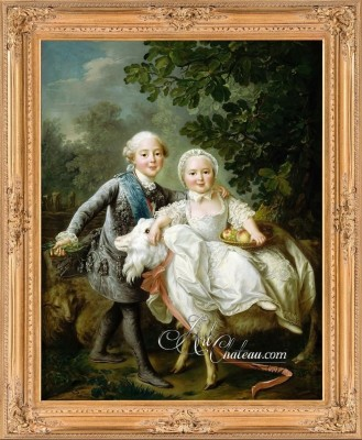The Count d'Artois and Madame Clotilde as Children