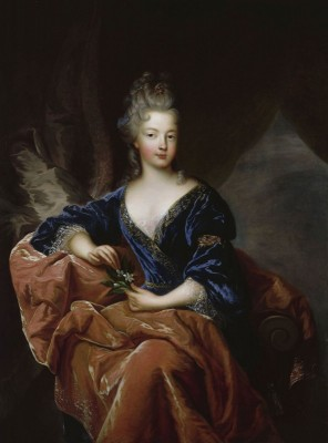 Françoise Marie de Bourbon was the youngest legitimised daughter of Louis XIV, c.1720, Oil on Canvas