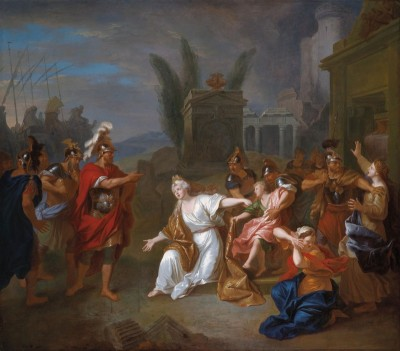 Astyanax arraché des bras d'Andromaque par ordre d'Ulysses, c.1780, Oil on Canvas