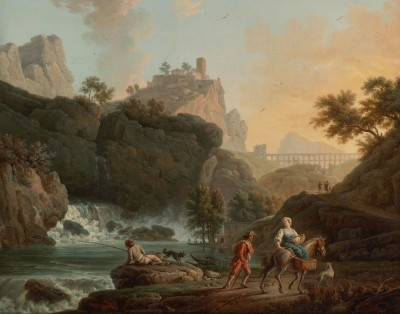 A View of a Waterfall, c.1740, Oil on Canvas
