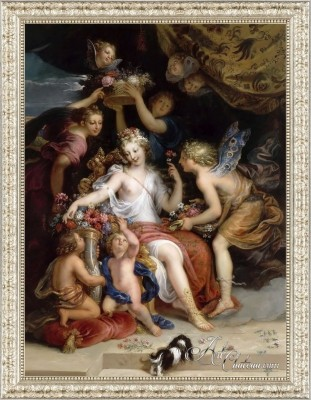 Zephyr and Flora, after Michel Corneille the Younger