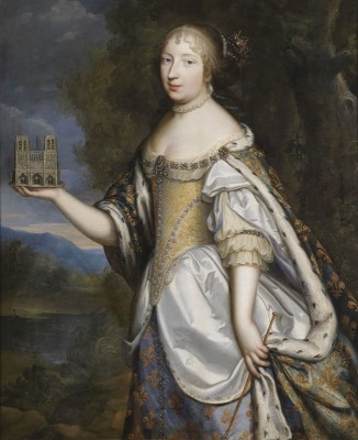 Queen Maria Theresa of France, patron of the Cathedral of Notre-Dame de Paris, c.1680, Oil on Canvas