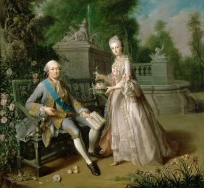 Louis-Jean-Marie de Bourbon with His Daughter, Louise Marie Adelaïde de Bourbon, c.1760, Oil on Canvas
