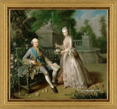 Louis-de Bourbon with His Daughter, Louise Marie Adelaide de Bourbon