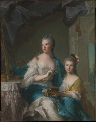 Madame Marsollier and Her Daughter, c.1749, Oil on Canvas