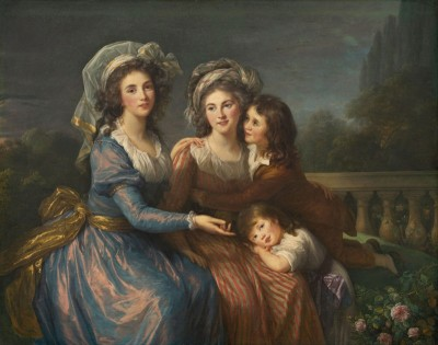 The Marquise de Pezay, and the Marquise de Rougé with her sons Alexis and Adrien, c.1787, Oil on Canvas